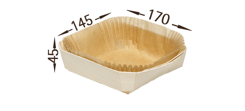 wooden baking cups